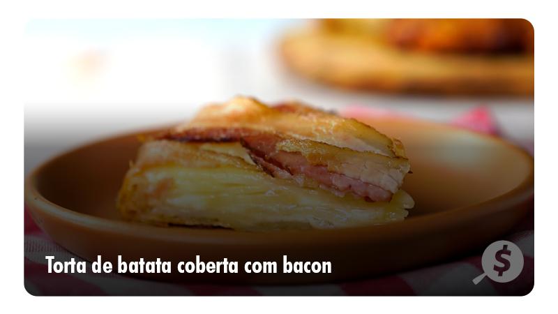 Torta de Batata coberta com Bacon